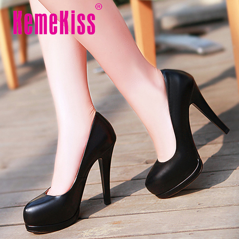 CooLcept free shipping genuine leather high heel  shoes patform fashion women dress heels pumps P10894 hot sale EUR size 34-39<br><br>Aliexpress