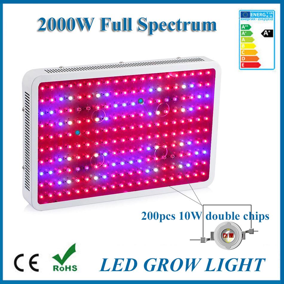 LED Grow Light 1000W 2000W 600W 300W 1200W Double Chips Fitolampa Led Grow Light Full Spectrum Aquarium 24W Plant Grow Light(China (Mainland))