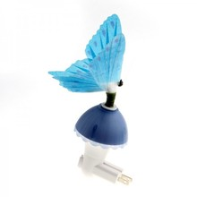 Butterfly Optic Fiber Color Changing Night Light Show,Blue(China (Mainland))