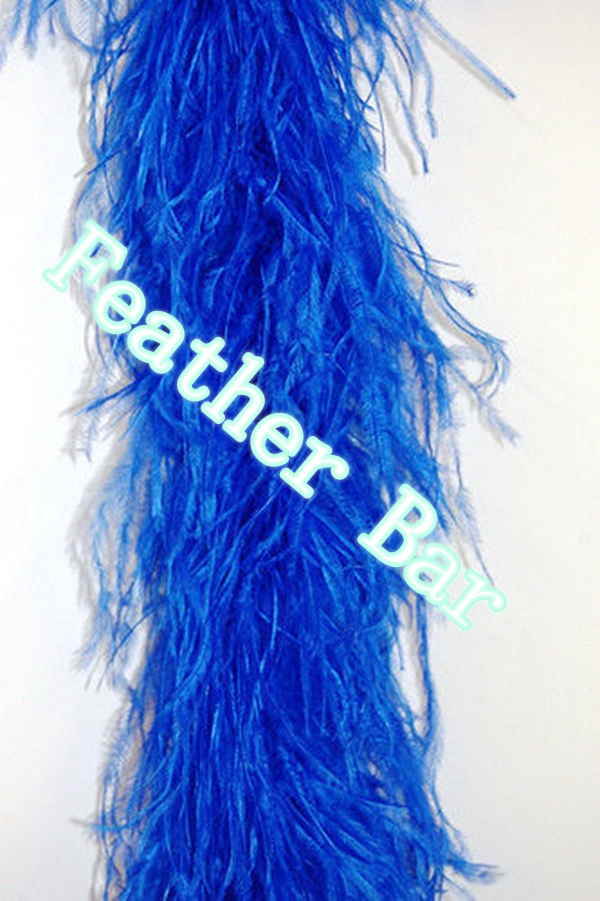 5 Ply OSTRICH FEATHER BOA - Royal Blue 20 meters Costumes Hats,wedding decorations EMS freeshipping(China (Mainland))