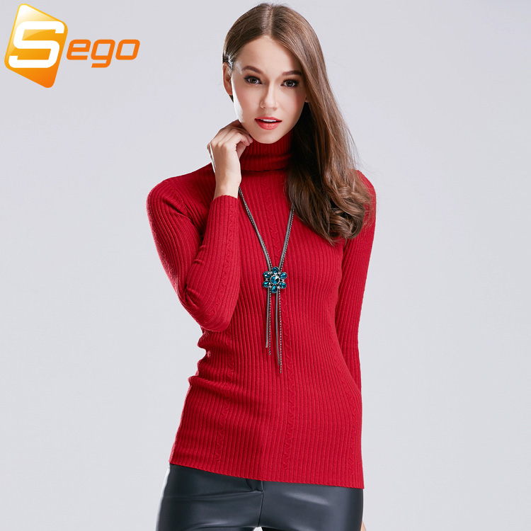 Knitted Pullover Women Fashion Knitwear New Style Casual Woman Sweaters Turtleneck Tops Lady Sweaters Free ShippingОдежда и ак�е��уары<br><br><br>Aliexpress