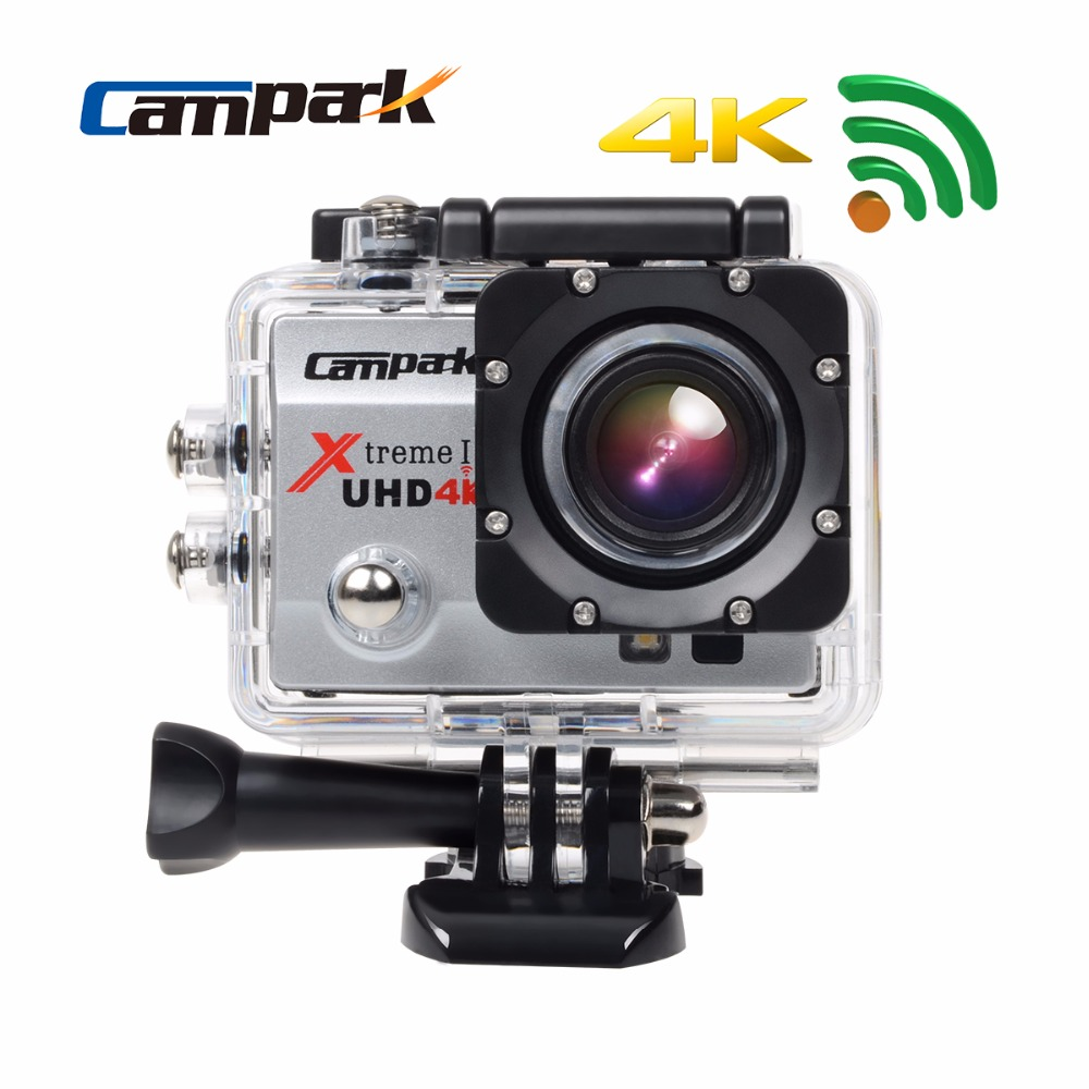 """Campark 1080P 4K 30fps 2.0"""" LCD Wifi Sport Action Camera Diving 30m Waterproof Helmet Cam Sport DV Camera For Extreme Sports(China (Mainland))"""