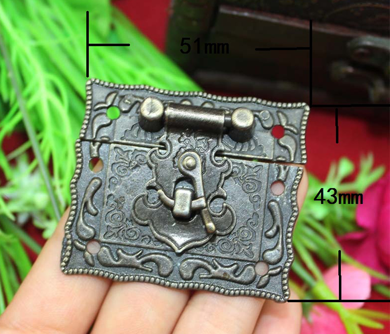 In Stock Excellent Value 5Sets Box Suitcase Toggle Latch Buckles Bronze Tone 51*43mm Durable in use(China (Mainland))