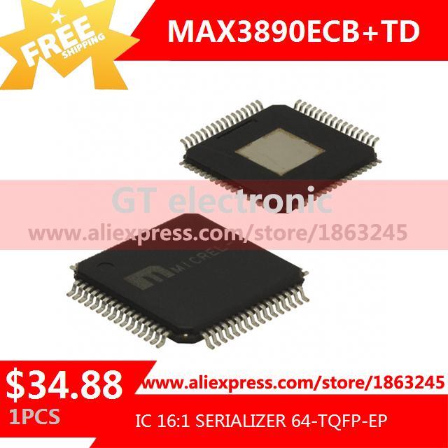 Free Shipping Diy Kit Electronic Production MAX3890ECB IC 16:1 SERIALIZER 64-TQFP-EP 3890 MAX3890 3890E 1pcs(China (Mainland))