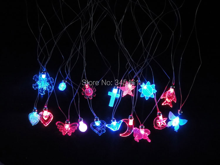 10pcs/lot Bulk Price LED flashing necklace,night lighting Gifts Wedding birthday decoration Glow necklace for party&festival(China (Mainland))