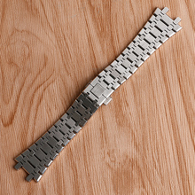 Buy High Men Watchband Bracelet Solid Link Wrist Band Strap Stainless Steel Luxry Replacement AP Watch + 2 Spring Bars for $30.57 in AliExpress store