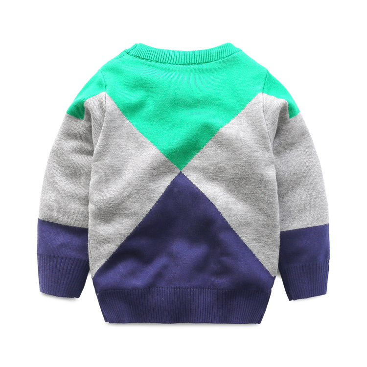 The diamond layer thick sweater boy 2017 new winter sweater all-match baby children's wear turtleneck sweater
