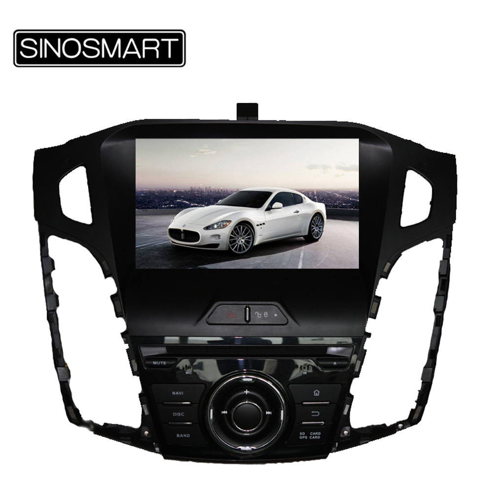 SINOSMART Quad Core 1.6GHz 8 Inch Android 5.1 Car DVD GPS Navigation for Ford Focus 2012-2014 with Canbus(Hong Kong)