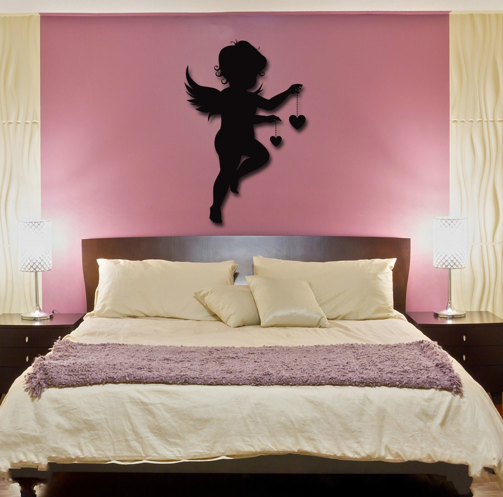 new home Wall Stickers Vinyl Decal Angel Baby Kids Romantic Decor For Bedroom free shipping(China (Mainland))
