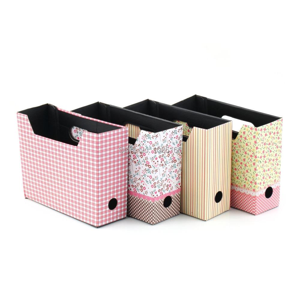 New Drop ShippingCute Makeup Cosmetic Stationery DIY Paper Board Storage Desk Organizer Box(China (Mainland))