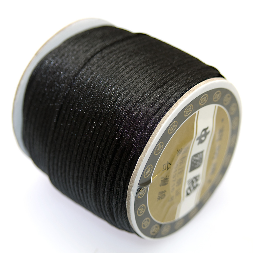 Jewelry supplies,Cord wire, Bugtail,satin cord,2.0mm Chinese Knot Macrame Cords,40m per spool(China (Mainland))