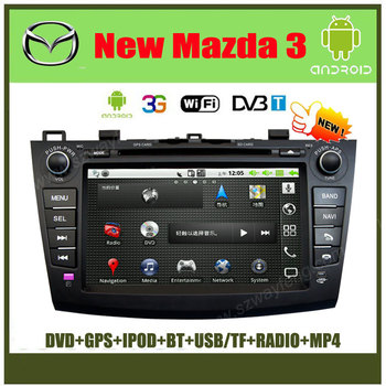 Android NEW Mazda 3 car DVD GPS Navigation with 512M RAM,Canbus,Radio BT IPOD USB/SD+(Optional DVB-T, 3G Wifi )+Free shipping!