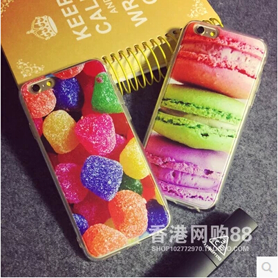 Candy Chocolates Cake Ice Cream Case Cover For Apple iPhone 6 Case Silicone 6 Series Soft Dessert Case For Phone(China (Mainland))