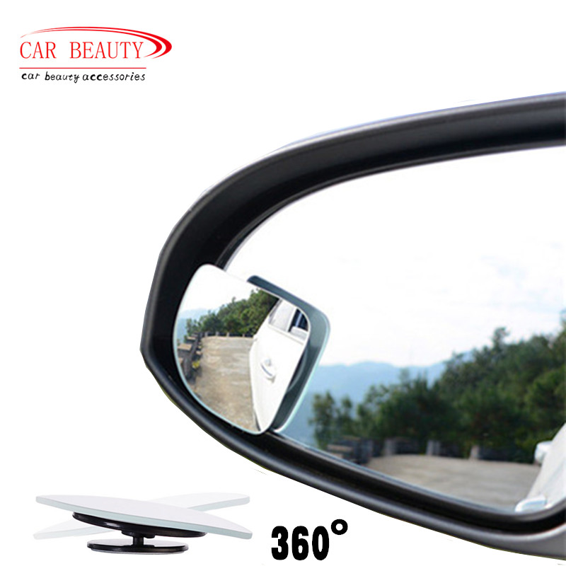 2016 New Car Styling Auto Motorcycle Blind Spot Rear View Mirror 360 Degree Adjustable Car Mirror Accessories(China (Mainland))