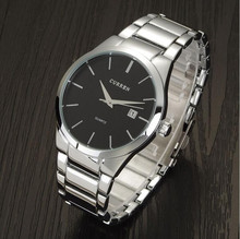 In 2015, stainless steel precision waterproof calendar quartz watches high quality brand men's fashion watches