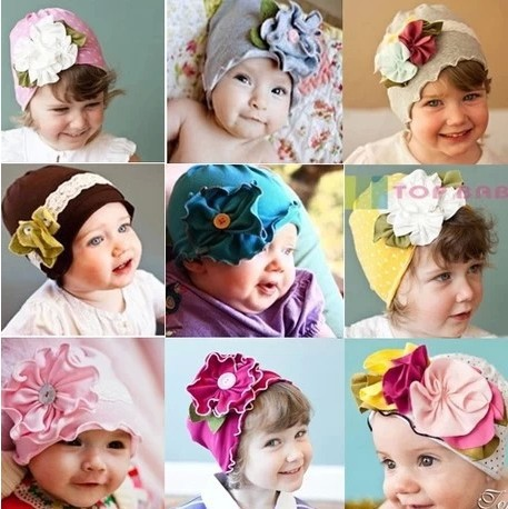 Spring Autumn Christmas flower lovely Infant hat children kid Baby Photo Props Kids Girl Gift - First Outdoor Choice store