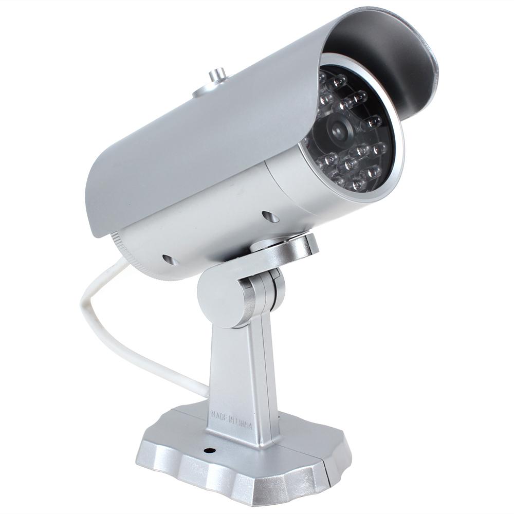Гаджет  Dummy Fake CCTV Camera Outdoor Emulational Fake Decoy Dummy Security CCTV Camera with Red Blinking 18 False IR LEDs None Безопасность и защита