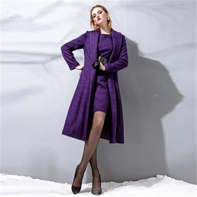 Purple Long Jacket - Coat Nj