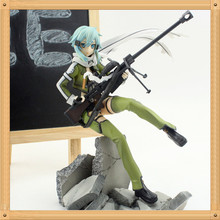 Anime Sword Art Online PVC Action Figure Asada shino figure Model Toy 23CM