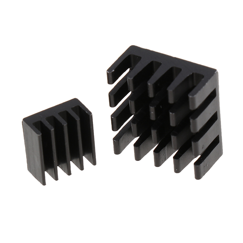 6Pcs/Set 14*14*4mm Black Adhesive Aluminum Heat sink Cooler Cooling Kit for Raspberry Pi Chip RAM Radiator Heatsink Cooler