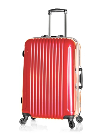 ABS+PC luggage Commercial Aluminum frame travel bag silver bags spinner New - Suitcase store