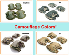 4-in-1 Camouflage Anti-Impact Military Tactical Knee Pads of X-type Knee Protector Support for CS, Extreme Sports Free shipping