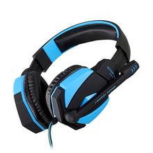 KOTION CADA G4000 Pc Gamer Gaming Auriculares Auriculares Estéreo Auriculares Para Juegos de PC Con Mic Micrófono USB LLEVÓ La Luz