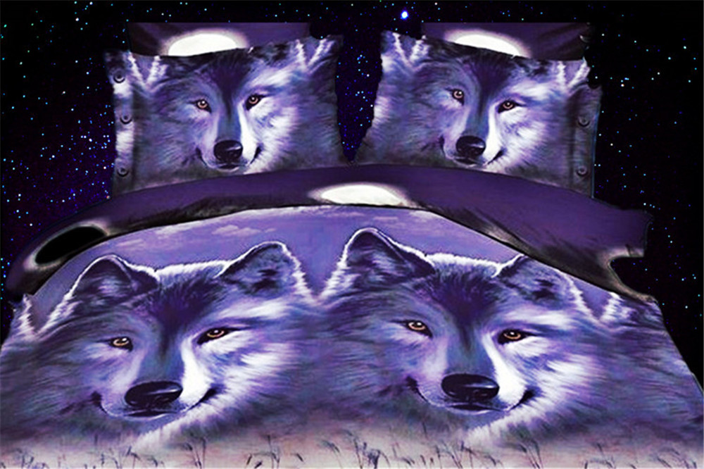 2015 new arrival Hot sale reactive printing navy wolf pattern 4 pcs queen size 3d home bedding set bed cover set(China (Mainland))