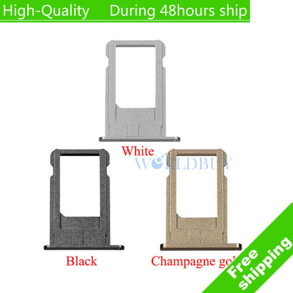 High Quality Card Tray Replacement for iPhone 6 4.7 for iphone 6 plus 5.5 Free Shipping