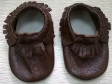 1 pair send -Baby Moccasins Soft Moccs Baby Shoes Newborn Baby firstwalker Anti-slip Genuine Cow Leather Infant Shoes Footwear(China (Mainland))