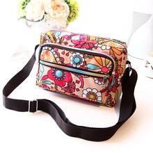 Woman Casual Canvas Bags Print Floral Messenger Bag Small Ladies Shoulder Bags Crossbody Makeup Bags Dames Tassen Bolsa Feminina