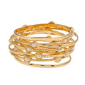 Fashion Electroplating Gold Plated Bangles Bohemia Multilayer Combined Bangle Good Artificial Pearls Acrylic Big Wristband