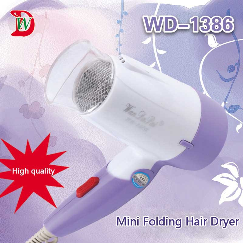 Foldable Hair Dryer Mini Travel Household Professional Hair Dryer Powerful 1000W Hot Cold Air Hair Styling Care 3 Gear Hairdryer