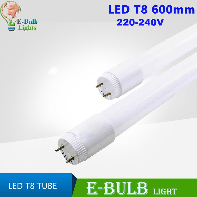 1pcs/lot Plastic T8 led tube 600mm 2ft 10W 220/230/240v milky cover SMD2835 tubo de LED light bulb lamp lighting free shipping(China (Mainland))