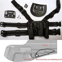 Tactical For GLOCK 17 19 22 23 31 32 Airsoft Drop Leg Right hand holster W/ Panel Mag Flashlight Pouch Belt Loop Waist paddle