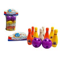 Norma colorato 10 pezzo bowling set 8 pins, 2  Palle da bowling per bambini giocattolo educativo di partito divertente gioco di famiglia per  Bambini(China (Mainland))