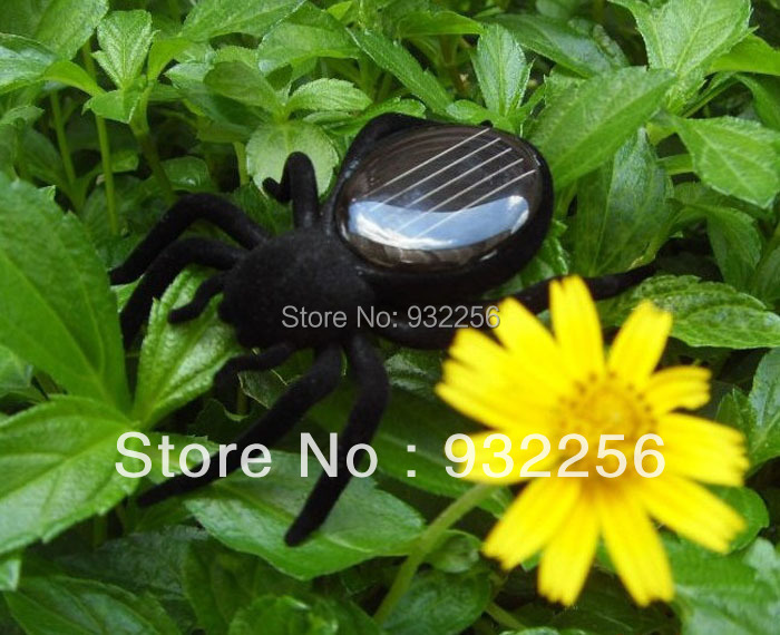 Free Shipping DIY Kits Solar Toys For Children Mechanical Solar Energy Spider Toys, Christmas Gift play doh(China (Mainland))