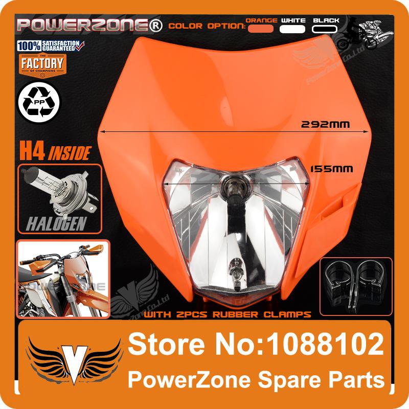 2016 Motorcycle Dirt Bike Motocross Supermoto Universal Orange Headlight For KTM SX EXC XCF SXF SMR Headlamp Free Shipping!(China (Mainland))