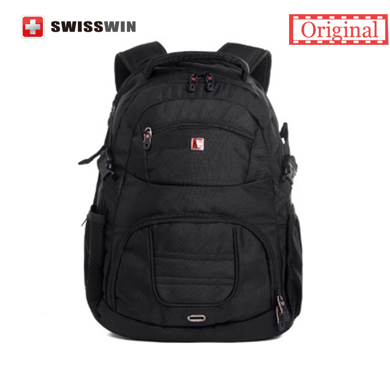Swiss Quality Mens 15.6 Laptop Backpack Water-resistant Nylon Backpack for SLR Carema Device and Computers Mochila masculino  <br><br>Aliexpress