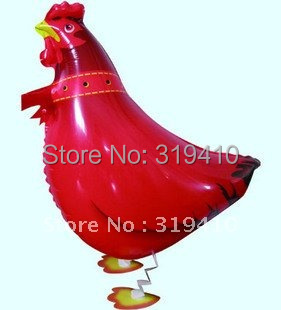 Walking Pet Balloon Cock Rooster Chicken Animal Balloons x 50