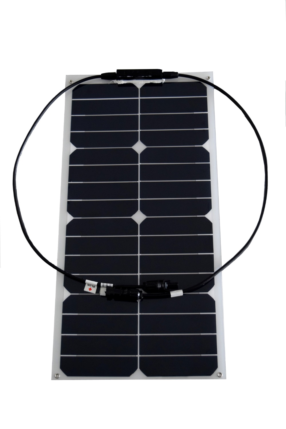 Solarparts 1x 25W flexible solar panel mono module for 12V battery with USA solar cell with MC4 connector cell DIY kits charger(China (Mainland))