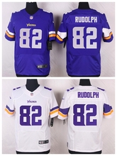 Minnesota Vikings #82 Kyle Rudolph Elite White and Purple Team Color free shipping(China (Mainland))
