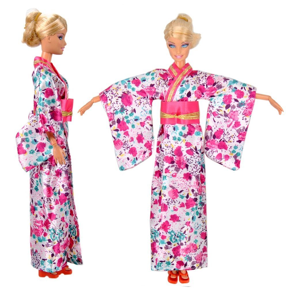 1 pcs Fashion Doll Clothes Traditio Japanese Kimono Dress Outfit For Barbie Doll(China (Mainland))