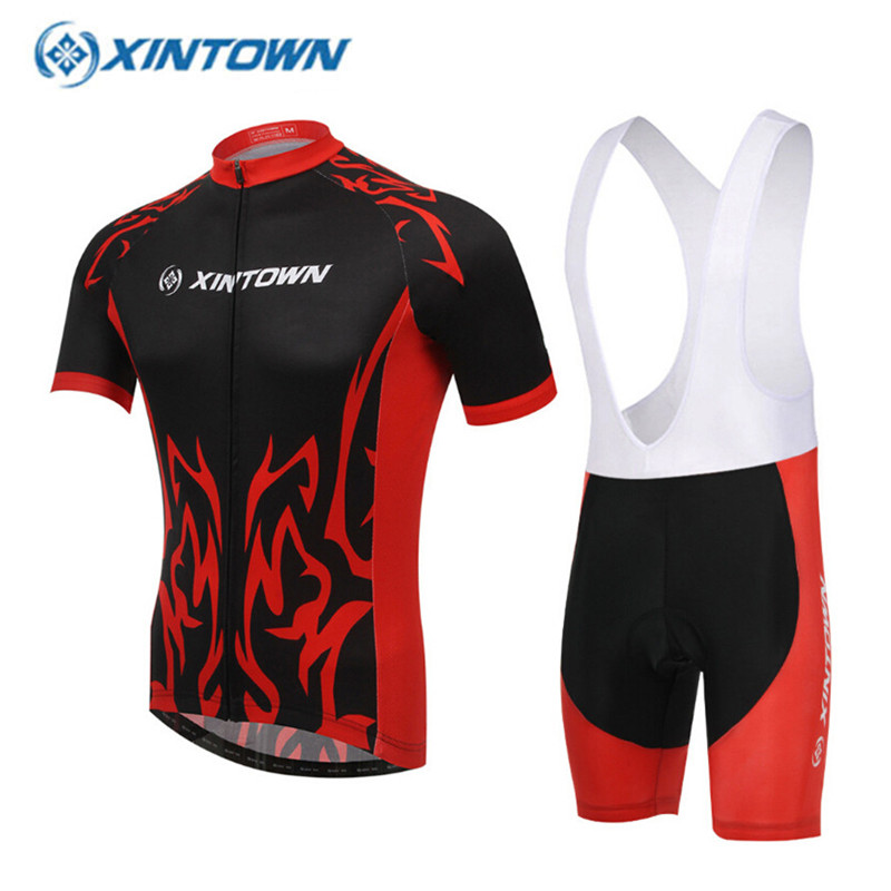 XINTOWN Pro Team 2017 Cycling Jersey Set Summer Ropa Ciclismo Professional MTB Bike Riding Clothes S-3XL Free
