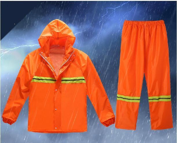 Reflective raincoats the new vests Fission raincoat rain pants suit Waterproof outdoor labor insurance overalls<br><br>Aliexpress