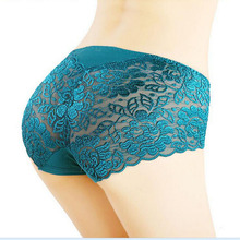 Sexy Transparent Lace Panties Seamless Brief Bragas Women Underwear Plus size Lady Underpants ropa interior mujer(China (Mainland))