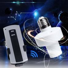 E27 Screw Wireless Remote Control Light Lamp Bulb Holder Cap Socket Switches APE(China (Mainland))