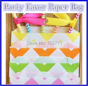 2000 Party Favor Paper Bag Chevron Polka Dot Stripes Paper Treat Candy Bag Bakery Bag Popcorn Bags Multi for pick,Free Shipping