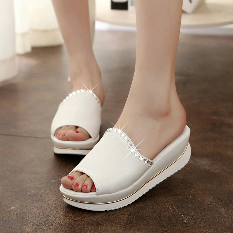 Summer 2016 new leather sandals and slippers women platform sandals shoes wedges platform shoes <br><br>Aliexpress