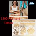 Gold flash tattoos 1500 PCS one time temporary tattoos The human body art design body tattoo